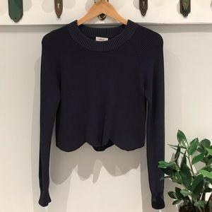 🌊 BNWT Wilfred Sardou Scalloped Sweater